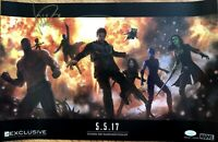 Michael Rooker signed Guardians of the Galaxy 2016 SDCC Marvel movie poster JSA