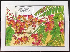 ANTIGUA 1136 Beautiful  Mint  NEVER  Hinged  Souvenir Sheet  FLOWERS  AG