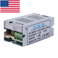 DC 12V 1.25A 15W Universal Regulated Switching Power Supply Adapter AC 110-220V