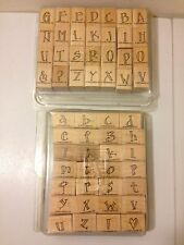 Stampin' Up! UPPER & LOWER Case Alphabet Set Stamps with Extras