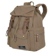 CANVAS Rucksack Damen Herren Daypack Vintage TABERNAK Olive BW Wandern Outdoor
