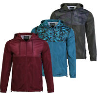 Beautiful Giant Men's Printed Hooded Lightweight Windbreaker Front Zip Jacket