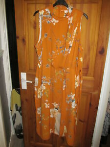 mustard flowered 2 in 1 look top size 16 from river island