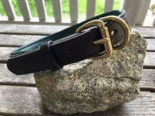 New listing Perri's Padded Dog Collar Leather Havana/Hunter Green Size Xl Brass Hardware