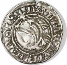 S8711 Rare Dauphiné Charles VII roi Et dauphin liard au dauphin Romans
