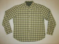 Prana Men's Dickson L/S Button Up Shirt * Green * Large * FREE SHIPPING!!