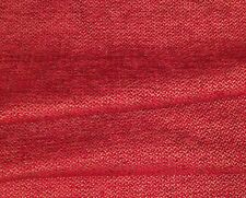 DESIGNERS GUILD Abruzzi Flame Basket Weave Red Stone Remnant New