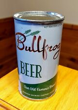 New listing Stunning Bullfrog Flat Top Beer Can - Rolled - Wow!
