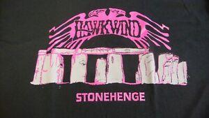 HAWKWIND Stonehenge T-Shirt. Black,Size Large,other sizes.Prog,Psych Rock,Lemmy