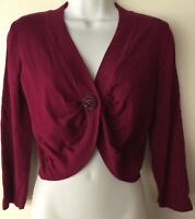 Basque Burgundy Dark Purple Bolero Top Cardigan Swing Rockabilly Pinup size M