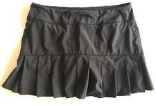 Lululemon Skirt Skort Shorts Sz 10 Black Tennis Golf Free Ship