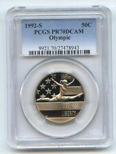 1992 S 50C Olympic Commemorative PCGS PR70DCAM