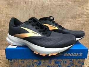 NIB Brooks 120322 -027  Women's Launch 7 Black / Cantaloupe Athletic Shoe