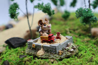 Wee Forest Folk Jack In The Sandbox Special Edtion M-206 Mouse WWF Retired 1995