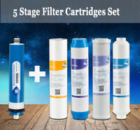 5 PCS Home RO Water Filter Replacement Set Fit 5 Stage Reverse Osmosis System