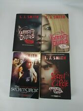 L.J. Smith 4 Book Lot.. The Vampire Diaries. The Secret Circle pre-owned