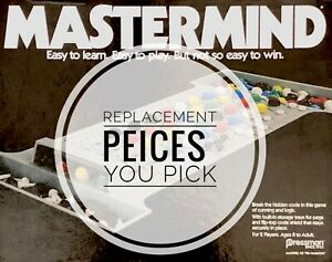 Mastermind Replacement Code and Key Pegs - Pressman Games 1981 - 2015 - You Pick