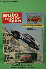 AMS Auto Motor Sport 1/84 Porsche 911 Allrad BMW M 635 CSI VW Golf Carat