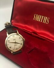 Vintage 9k 9ct Solid Gold Mens Smiths Everest Watch + Box