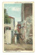 Used Postcard 1927 St Augustin Florida Narrowest Street In America