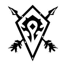 """6.5"""" Horde Bouclier Autocollant Vinyle Autocollant Voiture Ordinateur Portable World of Warcraft WOW Alliance"""