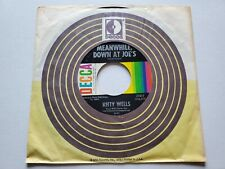 """KITTY WELLS - Meanwhile, Down At Joe's / Leavin' Town Tonight 1965 COUNTRY 7"""" EX"""