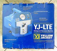 Yellow Jacket Refrigerant Recovery Machine Yj Lte Nib 95730