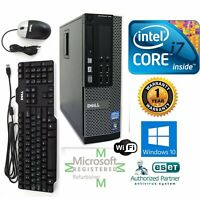 Dell PC SFF DESKTOP Intel i7 3770 3.40g 16GB  NEW 1TB HD Windows 10 HP DVI Wifi