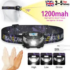 Super Bright Waterproof Head Torch Headlight LED CREE USB Rechargeable Headlamp
