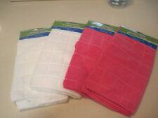 """Kitchen Towels Four (4) Kitchen Towel  2 Pink & 2 White   16"""" x 26""""  New Tags"""