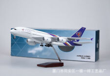 Diecast 1:160 Thai Airways Airbus A380 Aircraft Plane Model with LED Light Toy