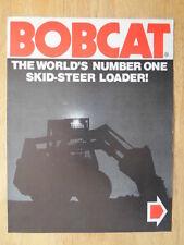 Cimsa Clark chargeuses Bobcat ORIG 1976 uk MKT la brochure commerciale