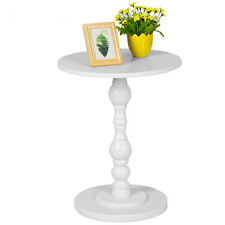 Round Cafe Coffee Table Solid Side End Lamp Bedside Table Living Room White 2018