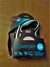 New listing Flexi New Comfort Tape Leash Gray 16 ft, M for Dogs To 55 lbs. Upc: 840317106367