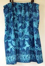 fcc16794d0 Roaman's Long Blue Floral Polyester Microfiber Elastic Waist Skirt 36W