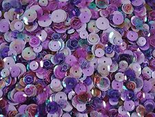 Sequins Cup Purple/Lilac Mix Asst. Sizes 20g Dancing Costumes Mixed FREE POSTAGE