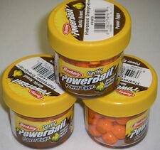 Berkley Powerbait GARLIC SCENT Power Eggs 3 pk FL Orange FEGFO *NEW* ice fishing