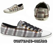 Women Girl CONVERSE All Star Light Ox BLACK WHITE PLAID Trainers Shoes UK SIZE 3