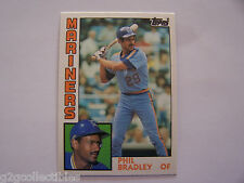 Phil Bradley ROOKIE CARD #15T (Lot of 5) 1984 Topps TRADED Baseball MARINERS