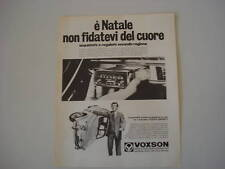advertising Pubblicità 1968 AUTORADIO VOXSON JUNIOR