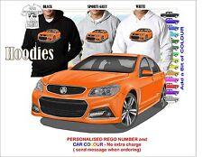 2013-17 VF STORM COMMODORE SEDAN HOODIE ILLUSTRATED CLASSIC RETRO MUSCLE CAR