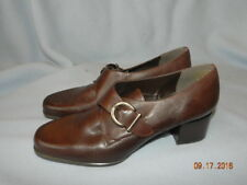 ac1098bbb6f Bandolino Womens Size 8.5 brown Leather upper Loafers Wedge Heel Very Nice!