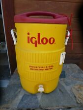 Igloo Industrial Water Cooler ,5 Gallon, Yellow/Red, USA