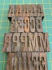 Egyptian Ornamented 19th Century American 12 Pica Wood Type William Page?