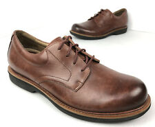 Dansko Josh Mahogany Antiqued Calf Brown Leather Shoes Oxford Men's Size EUR 43