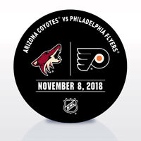 Philadelphia Flyers Issued Unused Warm Up Puck 11/8/18 Vs Arizona Coyotes