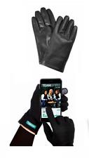 Tupperware Leather Gloves Pashmina Technology FingerTips Award Black Large New