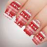 RED WINTER WARMER Xmas Nail Decal Water Transfer Christmas Sticker Tattoo