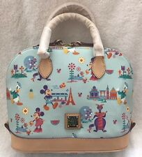 Dooney And Bourke Disney Epcot 2017 Flower & Garden Show Zip Satchel Bag Purse 1
