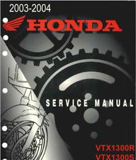 Factory Service Manual / Repair Book PDF - Honda VTX1300 VTX1300S VTX1300R 03-04
